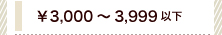 ¥3,000~3,999以下